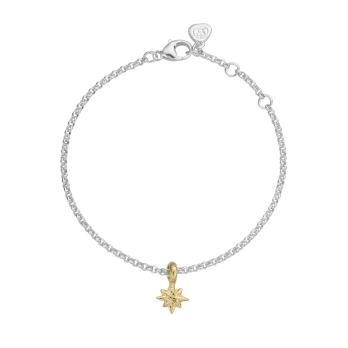 Silver & Gold Baby North Star Chain Bracelet