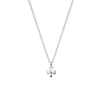 Silver Baby Shamrock Necklace