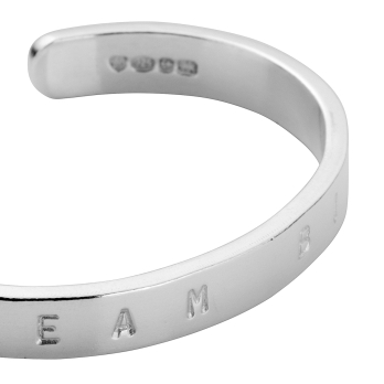 Silver Baby Signature Bangle detailed