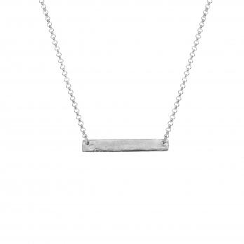 Silver Mens Bar Necklace
