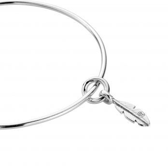 Silver Mini Feather Bangle detailed