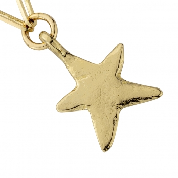 Gold Midi Star Trace Chain Necklace detailed