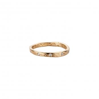 Gold 5 Diamond Mini Posey Ring