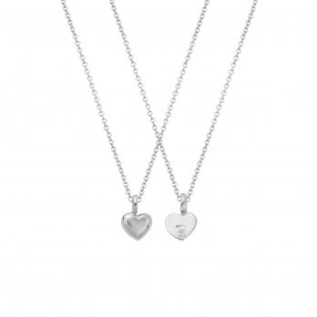 Silver Think of Me Heart Necklaces