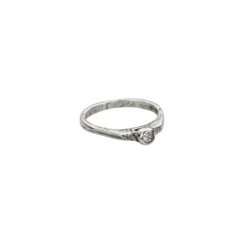 Silver Diamond Promise Ring