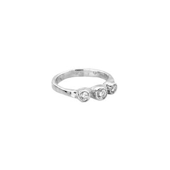 Silver Diamond Trinity Ring