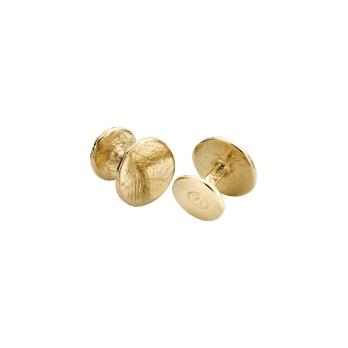 Gold Disc Cufflinks