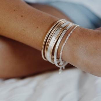 Silver Dream Bangle detailed