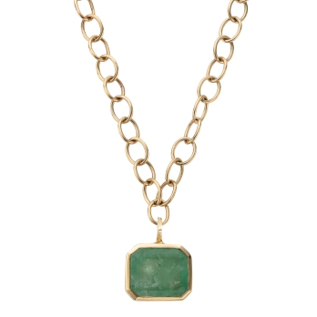 DRUCILLA Gold Emerald Necklace