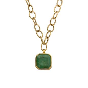ELPIDA Emerald Gold Necklace
