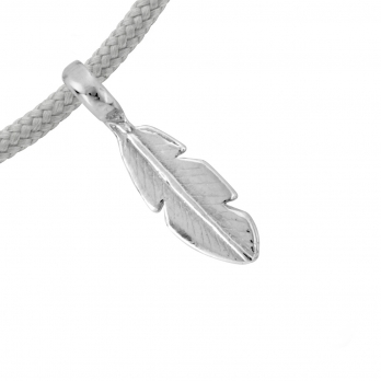 Silver Mini Feather Sailing Rope detailed