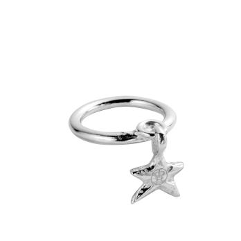 Silver Falling Star Ring