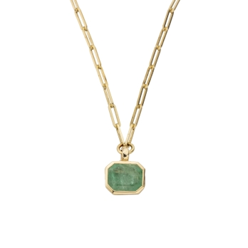 FILIS Emerald Trace Chain Gold Necklace