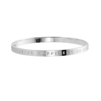 Silver Full Signature Bangle