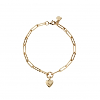 Gold Baby Heart Trace Chain Bracelet
