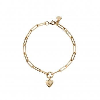 Gold Baby Heart Trace Chain Bracelet