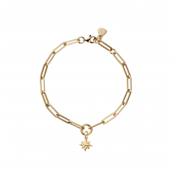 Gold Baby North Star Trace Chain Bracelet