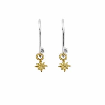 Maxi Cupid Hoops With Gold Baby North Star Charms