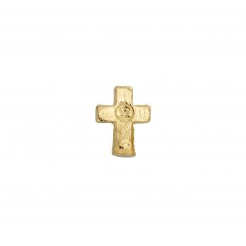 Gold Little Cross Single Ear Charm