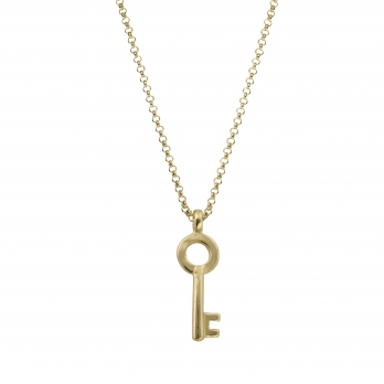 Gold Medium Dreamer's Key Necklace