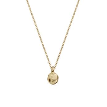 Gold Mini Disc Necklace