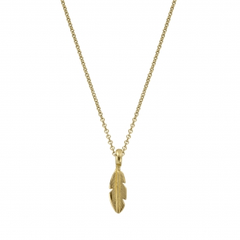 Gold Mini Feather Necklace
