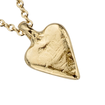 Gold Mini Heart Necklace detailed