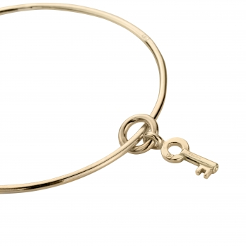 Gold Mini Dreamer's Key Bangle detailed