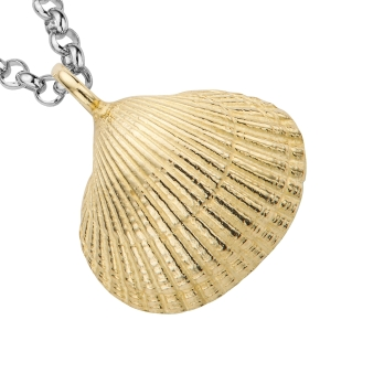 Silver & Gold Maxi Shell Necklace detailed
