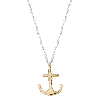 Silver & Gold Midi Anchor Necklace