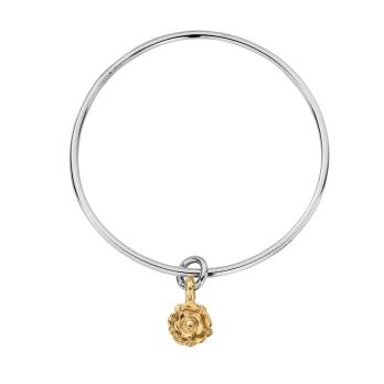 Silver & Gold Medium Yorkshire Rose Bangle