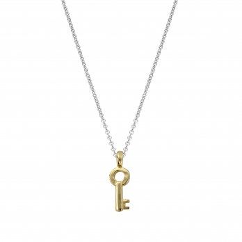 Silver & Gold Mini Dreamer's Key Necklace