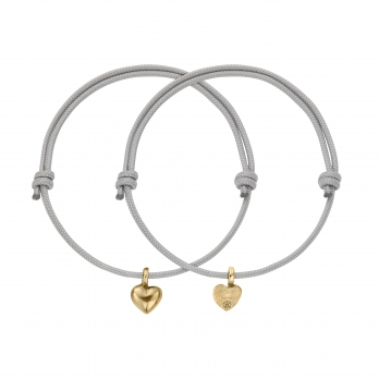 Gold Think of Me Heart Sailing Rope Bracelets
