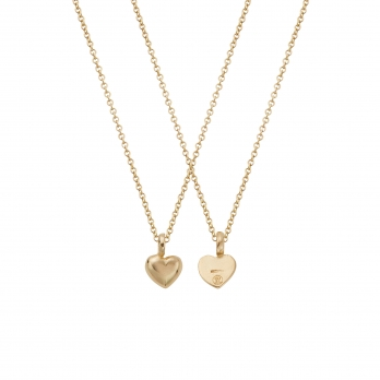 Gold Think of Me Heart Necklaces