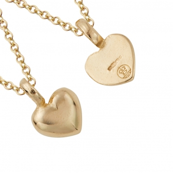 Gold Think of Me Heart Necklaces detailed