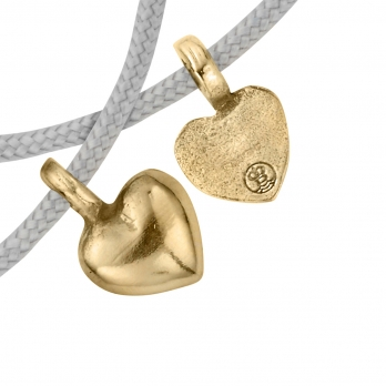 Gold Think of Me Heart Sailing Rope Bracelets detailed