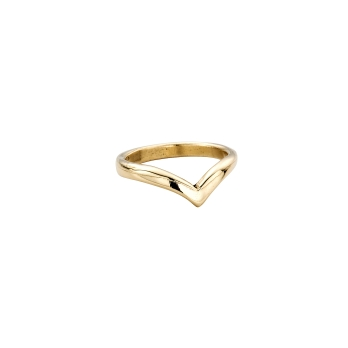 Gold Ladies Wishbone Band