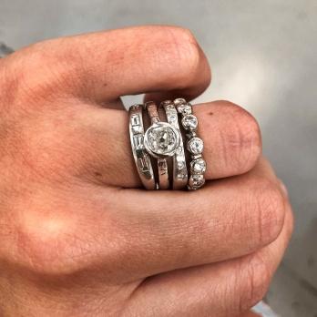 Platinum Grace Goddess Ring detailed