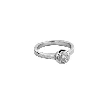 Platinum Grace Goddess Ring