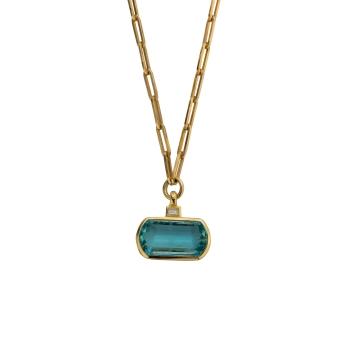HALI Aquamarine & Diamond Necklace