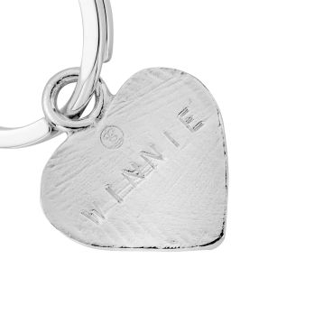 Silver Heart Dog Tag detailed