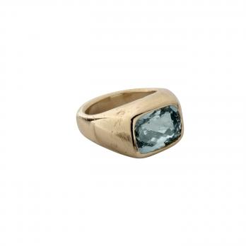 HILO Gold Aquamarine Ring