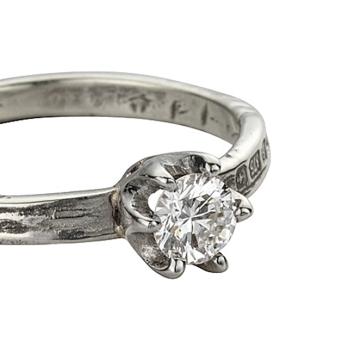 JUNO Diamond White Gold Ring detailed
