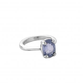 KAI Silver Blue Sapphire Claw Ring