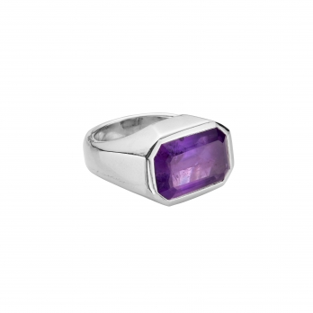LOLANTHE Silver Amethyst Ring
