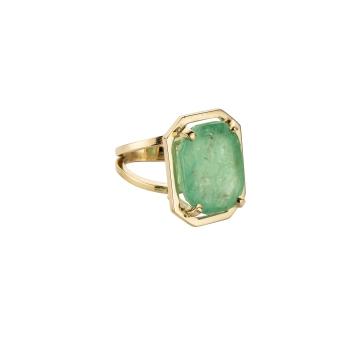MAUNA KEA Gold Large Emerald Claw Ring