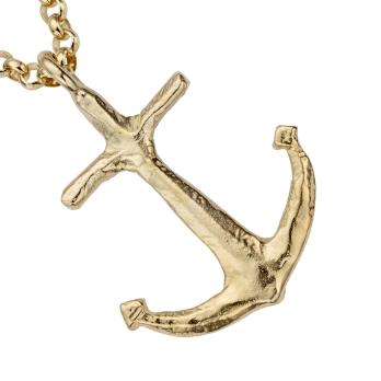 Gold Maxi Anchor Necklace detailed
