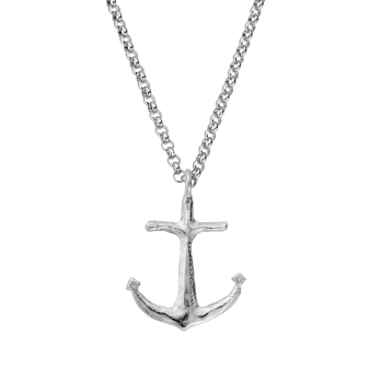 Silver Maxi Anchor Necklace
