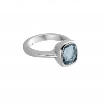 MAZU Silver Blue Sapphire Ring
