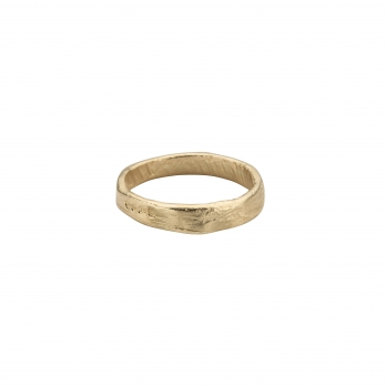 Mens Gold Midi Posey Ring